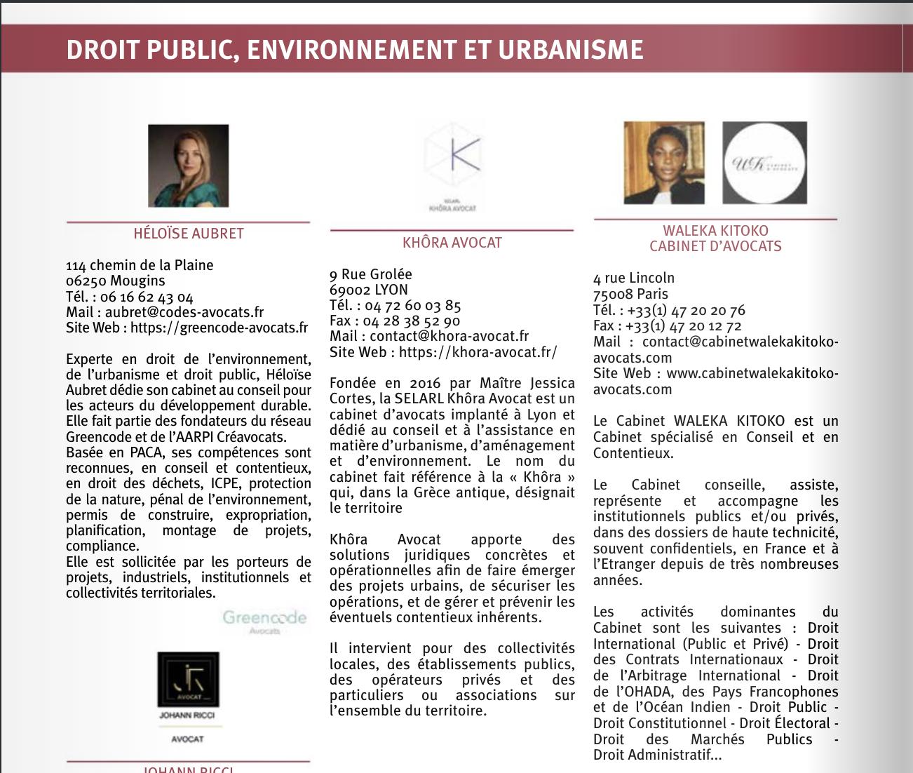 Extrait du Journal du Management Juridique spécial Droit public, Environnement et Urbanisme, n°79, décembre 2020